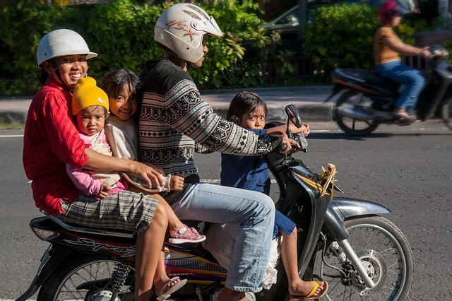 Free photo: Bali, Traffic, Family Bike - Free Image on Pixabay - 237205