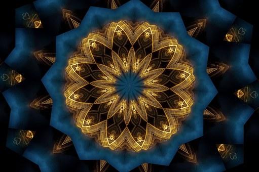 Mandala, Kaléidoscope, Ornements, Modèle