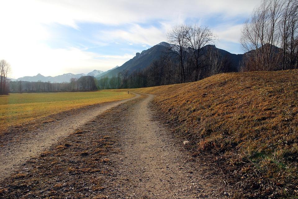 道路, 離れた, ダート トラック, 車線, 高山の道, 牧草地, 登山道, 管理, 自然歩道, 自然