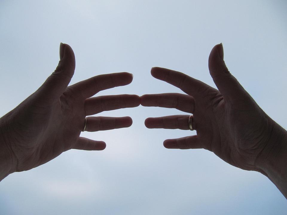 Handen, Lucht, Spiritueel