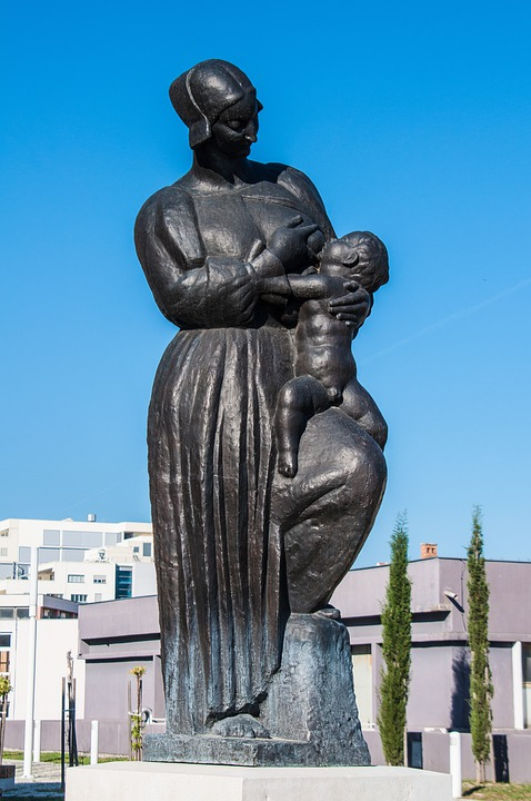 Free Photo Breastfeeding Statue Sculpture Free Image