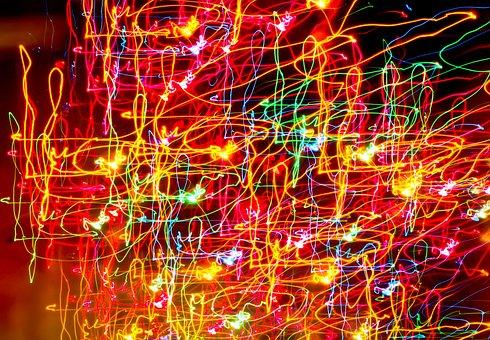Lights, Night, Neon, Light Trails