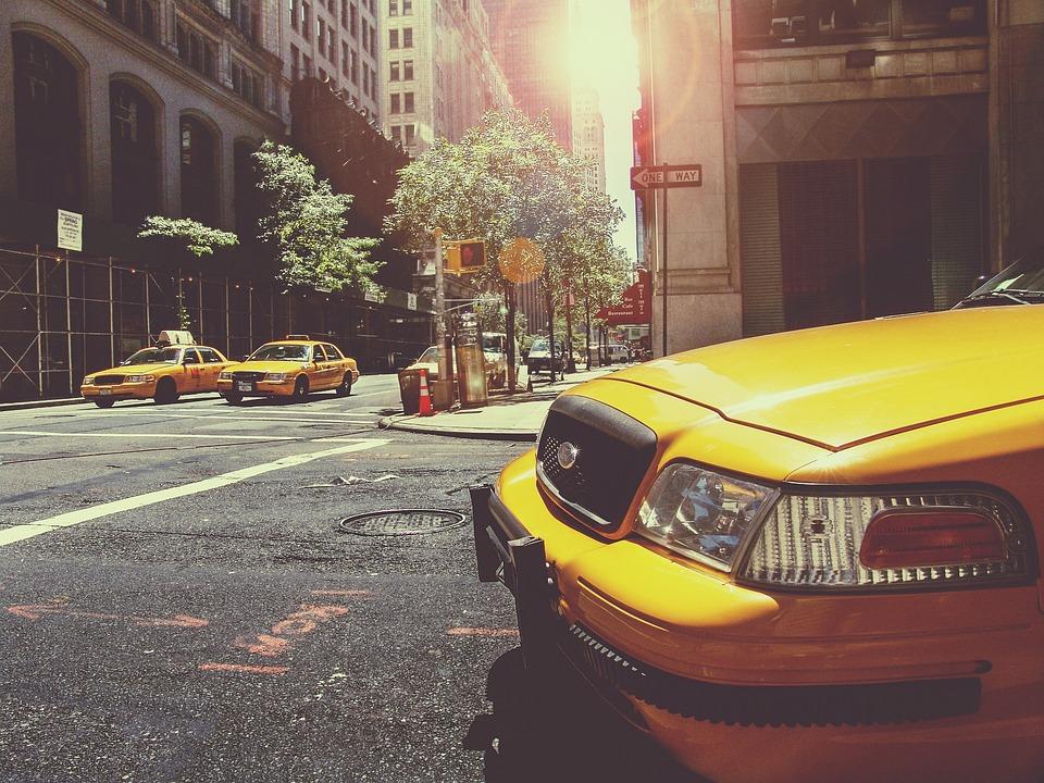 タクシー, 道路, トラフィック, 車, 黄色いタクシー, 黄色のク, ニューヨーク, 通り