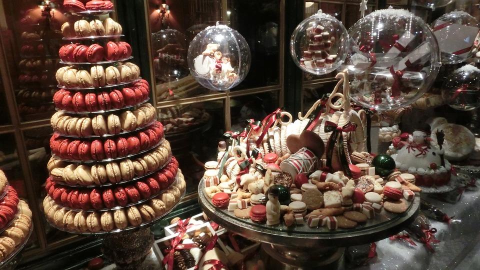 Copenhagen, Denmark, Bakery, Christmas, Window, Cookie