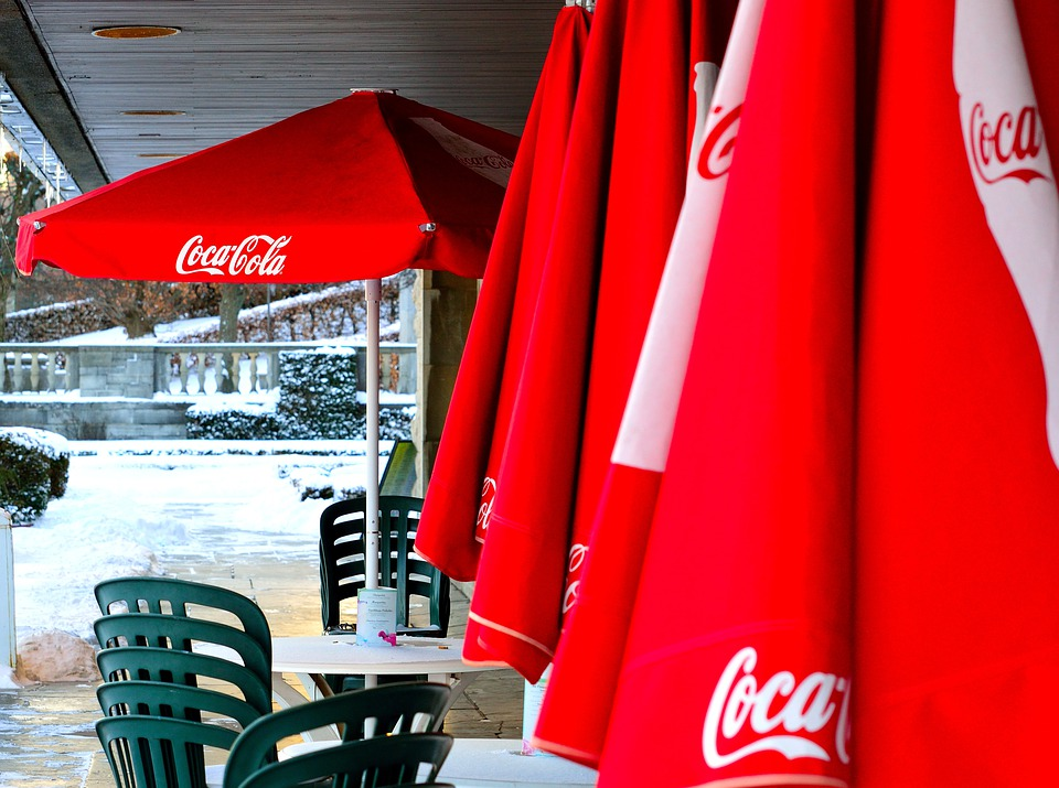 Coca Cola, Coke, Sunshades, Parasols