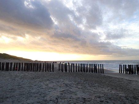 Strand, Wasser, Meer, Holz, Sand Domburg