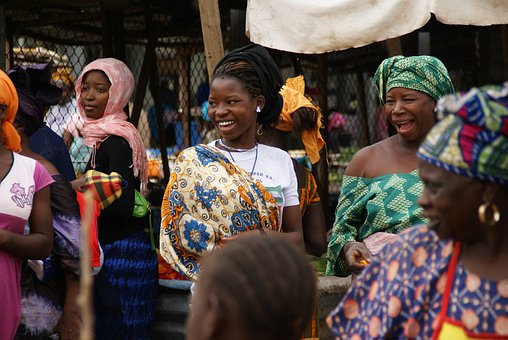 Gambia Market Woman Creole Africa Gambia G