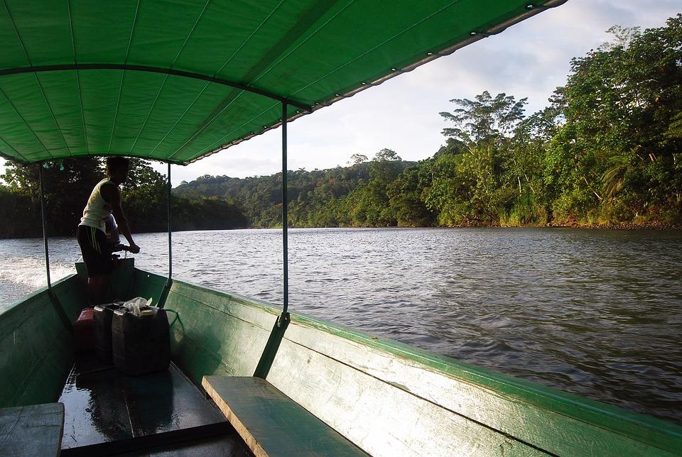 Amazon, Canoë, Rivière, Coucher De Soleil, Eau, Barca