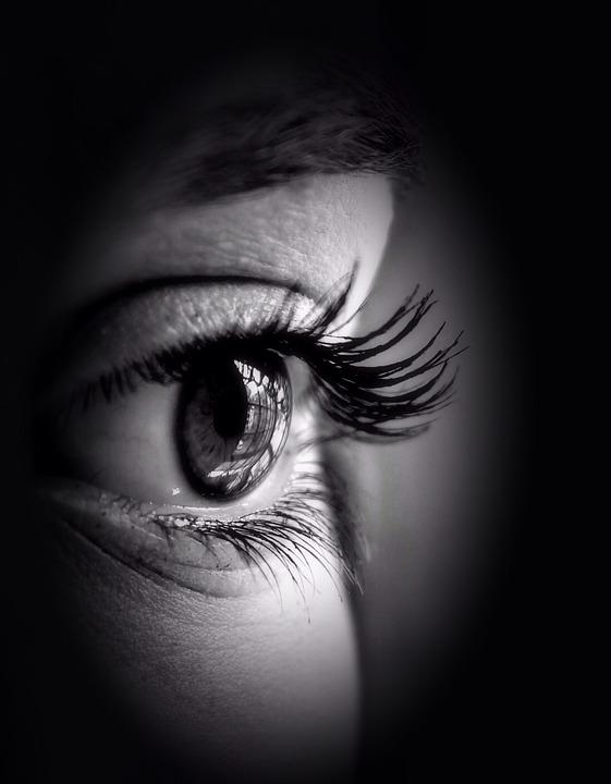 目, 瞳孔, アイリス, ビュー, まつげ, 参照してください, 見える, 見よ, メイクアップ, 化粧品