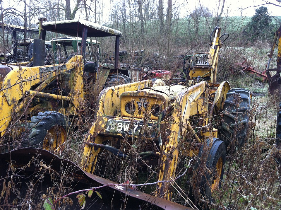 Tractor Salvage Yards : Free photo tractor rust graveyard farm image on