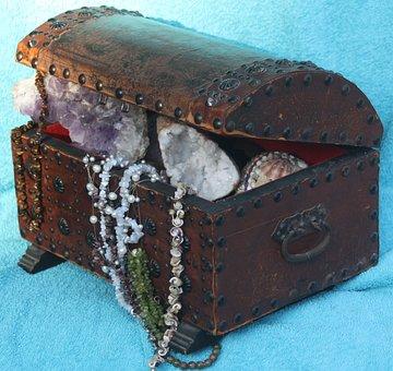 Treasure, Gems, Box, Treasure Chest
