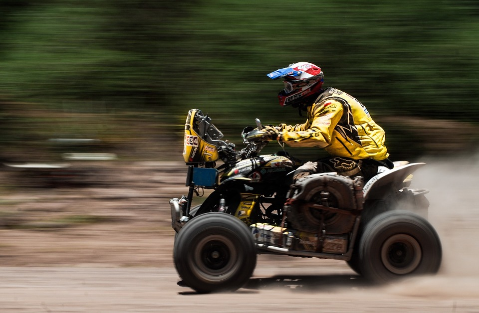 Atv, Sports, Motorbike, Four Wheeler, Dakar, Race