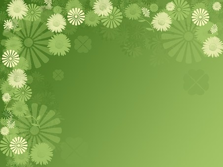 Background Green Spring Easter Flower