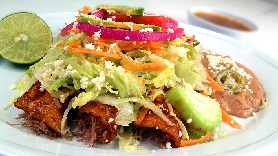 México, Enchilada, Los Alimentos, Placa, Comida, Cocina