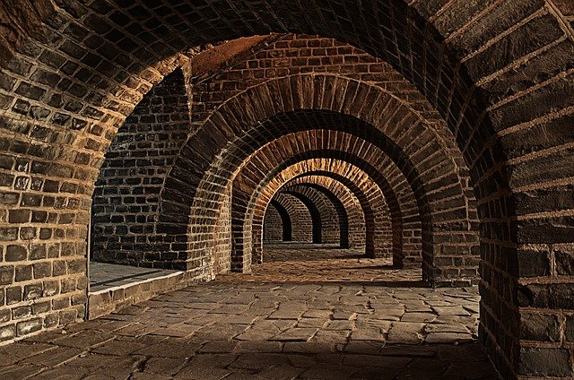 Vaulted Cellar Tunnel Arches 183 Free Photo On Pixabay