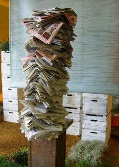 Εφημερίδα, Στοίβα Εφημερίδων, Στήλη