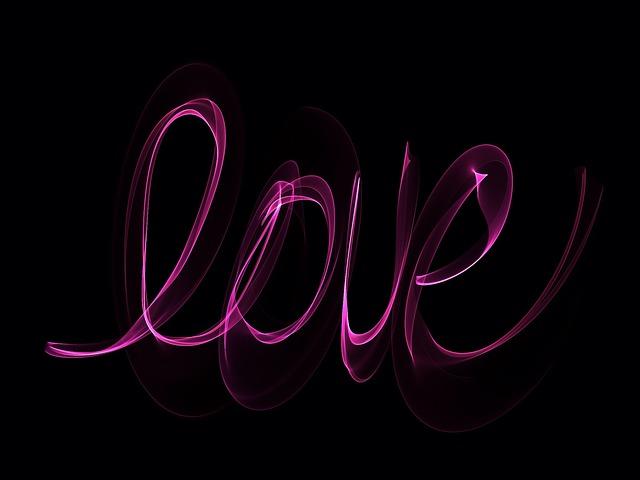 free illustration  neon  love  glowing  writing