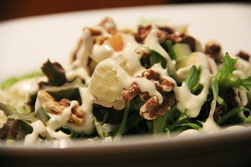 Salad Cream, Mayo, Pomelo, Fruits, Nuts
