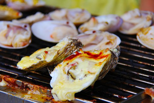 Oyster, Bbq, Grilled, Barbecued Oysters