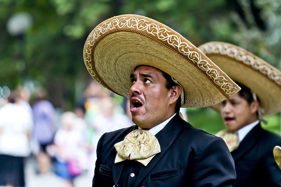 歌手, メキシコ人, 歌う, 男, 帽子, ドレスアップ, 顔, アーティスト, ストリートアーティスト