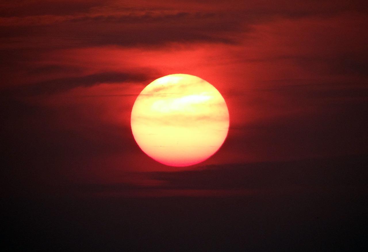 Naplementét Izzó Nap - Ingyenes fotó a Pixabay-en