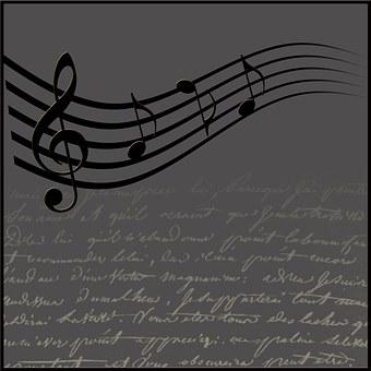 Music, Clef, Background, Texture