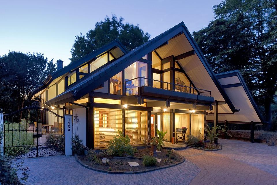 Holzskelettbauweise  Kostenloses Foto: Holzskelettbauweise, Flock-Haus - Kostenloses ...