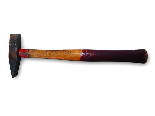 kostenloses foto hammer holz metall rot werkzeug. Black Bedroom Furniture Sets. Home Design Ideas