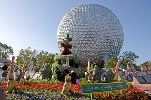 Mickey Mouse, Disney, Epcot, Sculpture