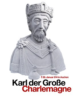 Charlemagne, Statue, Figure, King