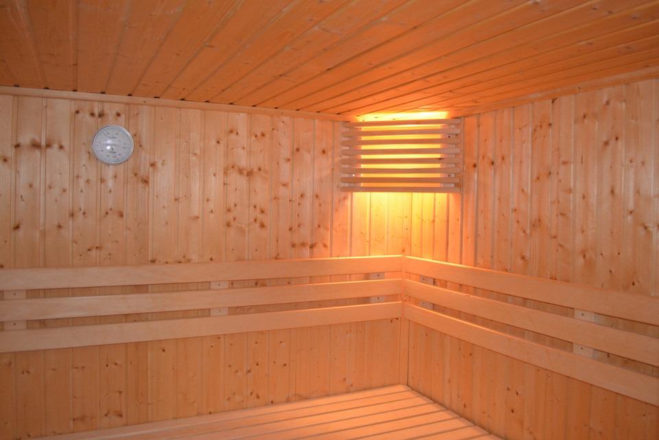 Sauna, Lamppu, Lämpöä, Rentoutua, Puu