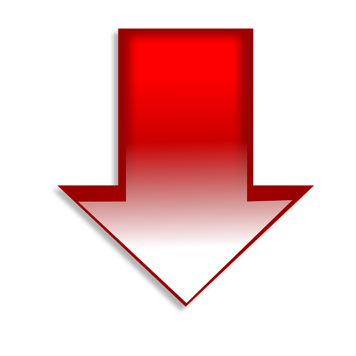 down arrow red symbol sign direction icon design