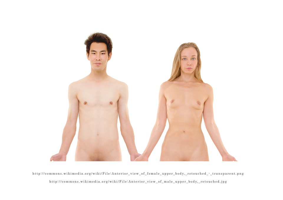 Naked women boobs and men