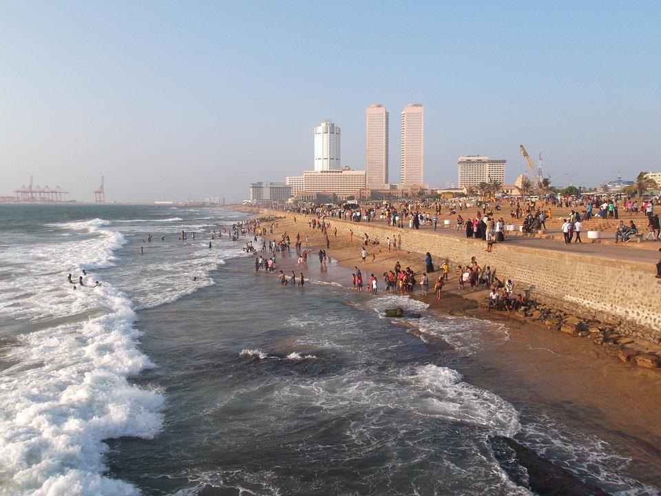 Colombo, Sri Lanka, Plaży