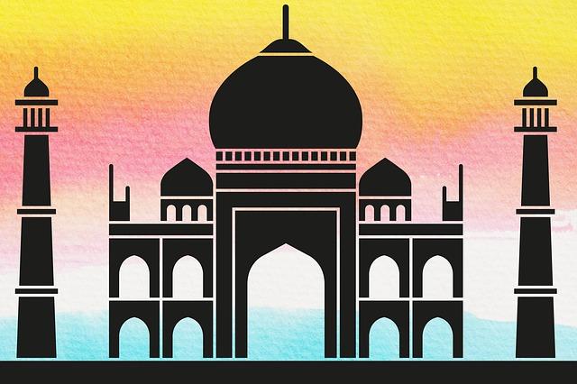 Free Illustration Taj Mahal Crown Of The Place Free