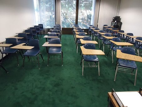 Class, Classroom, Tables, Chairs, Empty