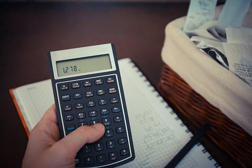 Argent, Billets, Calculatrice, Sauver