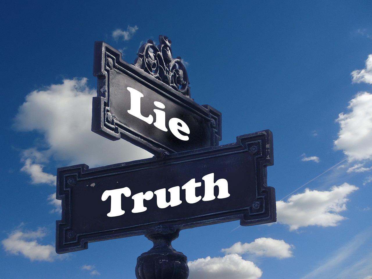 Truth Lie Street Sign - Free photo on Pixabay