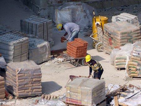 建設, サイト, 建築工事, ヘルメット, アーキテクチャ, 建設労働者