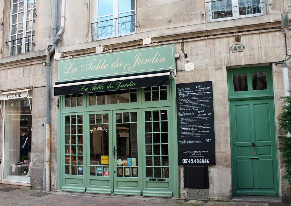 Green Door French Cafe Street 183 Free Photo On Pixabay