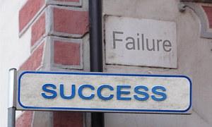 Success, Failure, Street Sign, Shield