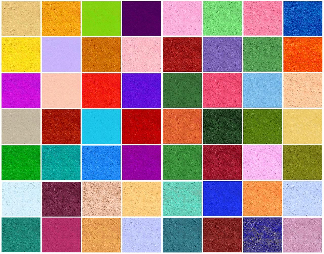 вместо фото цветные квадраты скажут, что над