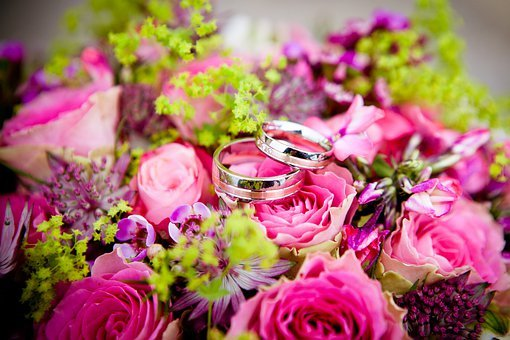 Flowers Wedding Wedding Rings Bouquet Flor