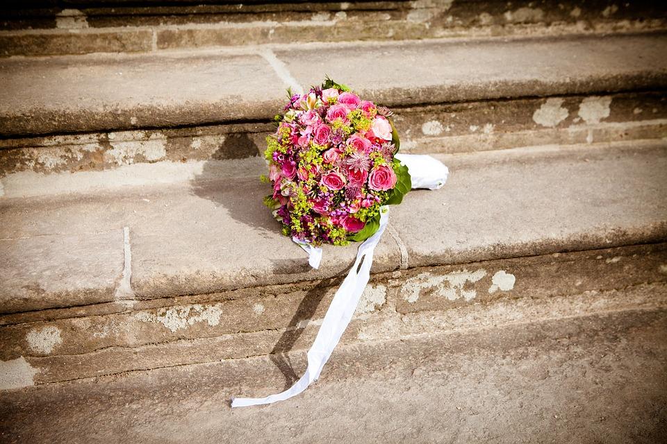花, 結婚式, ブライダル ブーケ, 花束, 花柄, ロマンチック, 祝賀, ブライダル, 配置, 式, 茶花