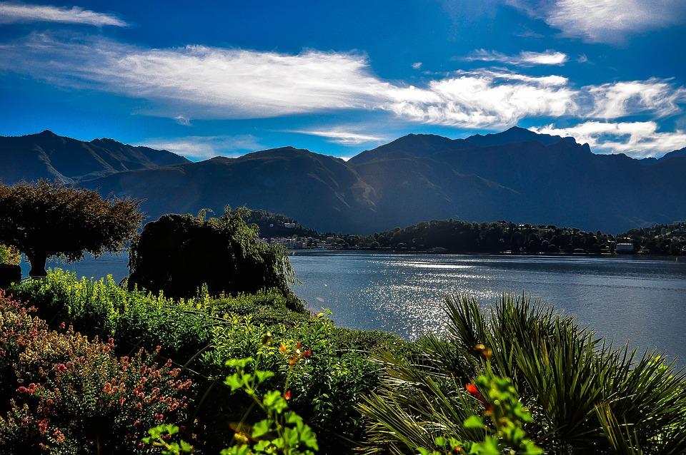 Lago Di Como, Golder Di Como, Menaggio, Italia, Lago