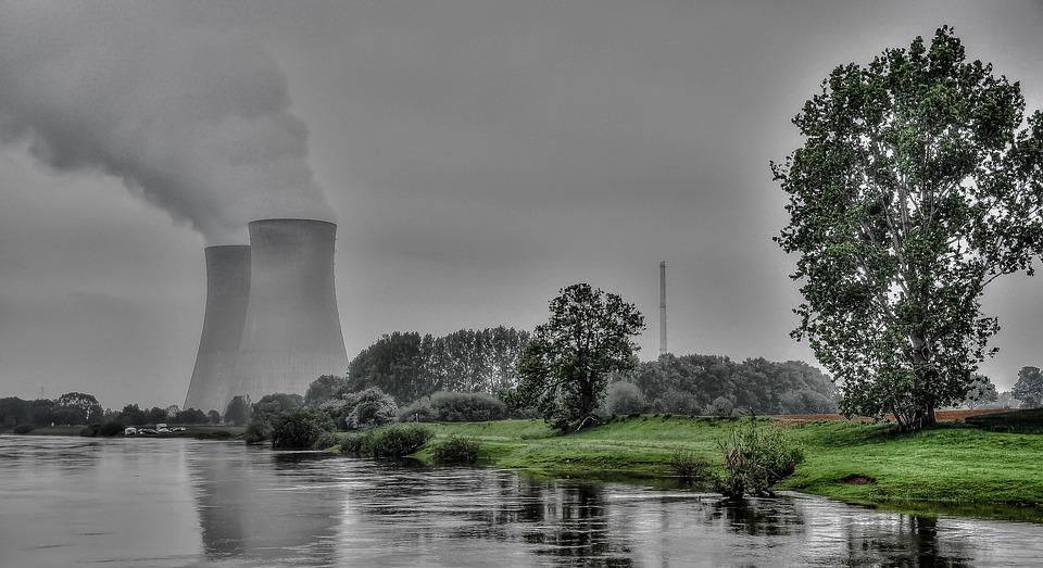 Atomkraftwerk, Atommeiler, Kraftwerk, Kühltürme, Akw