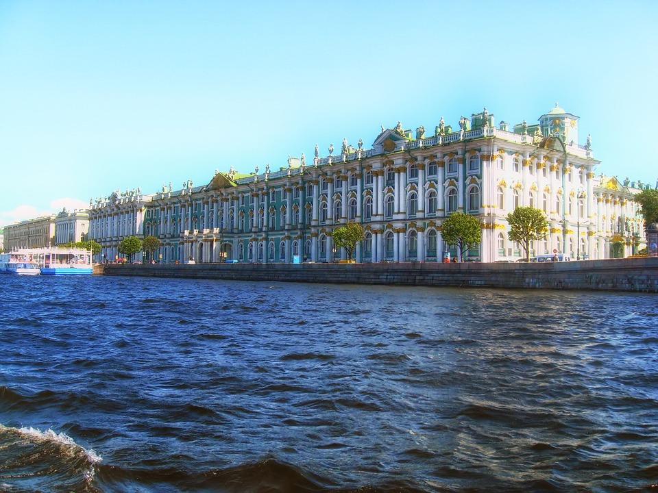 Bygning Vinterpaladset Flod Gratis Foto På Pixabay