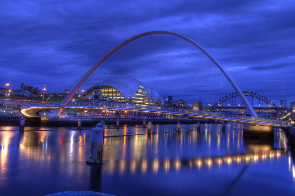 Millenium Bridge Gatheshead in Newcastle