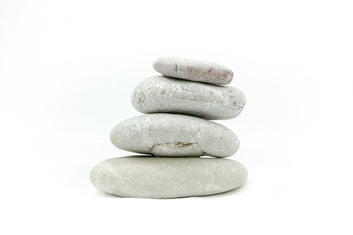 The Stones, Stone, On A White Background