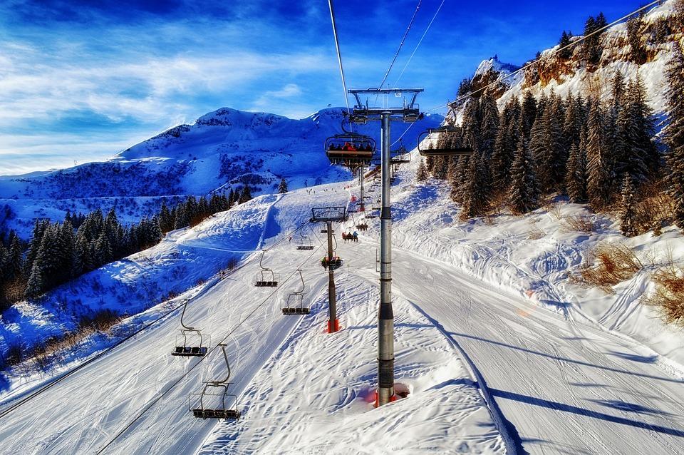 Francia, Ski Resort, Montagne, Inverno, Neve, Ghiaccio